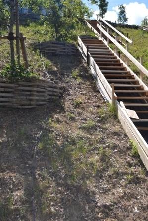 階段 庭 手づくり 大工